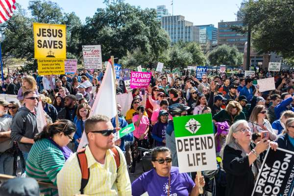 Thousands march at Texas Rally for Life in downtown Austin